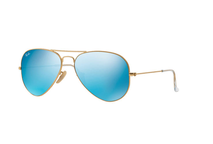8f52ccd45 Ray Ban Aviador Matte Gold lente Blue Flash cod. RB3025 1...