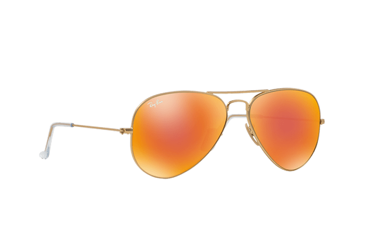 Ray Ban Aviador Matte Gold lente Crystal Mirror Orange cod. RB3025 112/69 55 - Image 11