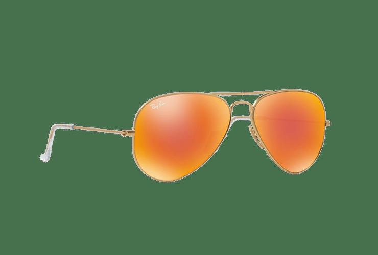 Ray-Ban Aviador Matte Gold lente Crystal Mirror Orange cod. RB3025 112/69 55 - Image 11