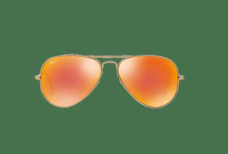 Ray-Ban Aviador Matte Gold lente Crystal Mirror Orange cod. RB3025 112/69 55 - Image 12