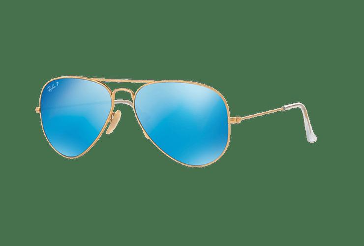 Ray Ban Aviador Matte Gold lente Blue Mirror Polarized cod. RB3025 112/4L 58 - Image 1