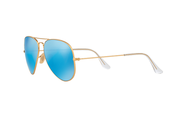 Ray Ban Aviador Matte Gold lente Blue Mirror Polarized cod. RB3025 112/4L 58 - Image 2