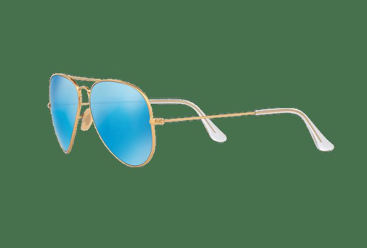 ab739da2f7 Ray Ban Aviador Matte Gold lente Blue Mirror Polarized co...
