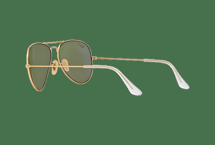 Ray Ban Aviador Matte Gold lente Blue Mirror Polarized cod. RB3025 112/4L 58 - Image 4