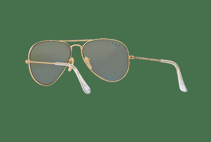Ray Ban Aviador Matte Gold lente Blue Mirror Polarized cod. RB3025 112/4L 58 - Image 5