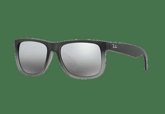 Ray Ban Justin Rubber grey lente Silver Mirror Gradient cod. RB4165 852/88 54