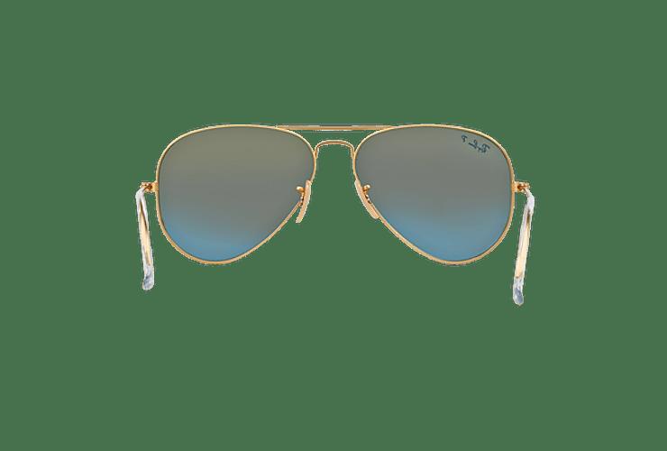Ray Ban Aviador Matte Gold lente Blue Mirror Polarized cod. RB3025 112/4L 58 - Image 6