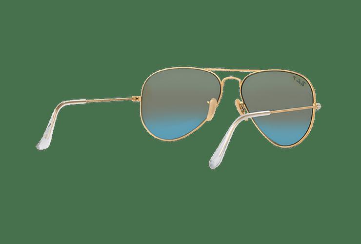 Ray Ban Aviador Matte Gold lente Blue Mirror Polarized cod. RB3025 112/4L 58 - Image 7