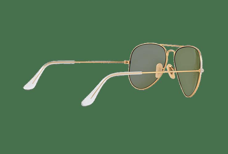 Ray Ban Aviador Matte Gold lente Blue Mirror Polarized cod. RB3025 112/4L 58 - Image 8