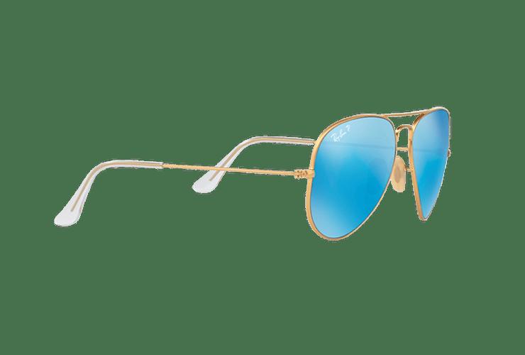 Ray Ban Aviador Matte Gold lente Blue Mirror Polarized cod. RB3025 112/4L 58 - Image 10