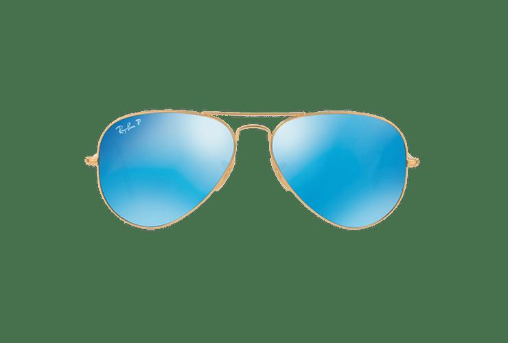 Ray Ban Aviador Matte Gold lente Blue Mirror Polarized cod. RB3025 112/4L 58 - Image 12