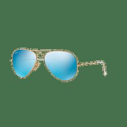 Ray Ban Aviador Matte Gold lente Blue Flash cod. RB3025 112/17 55