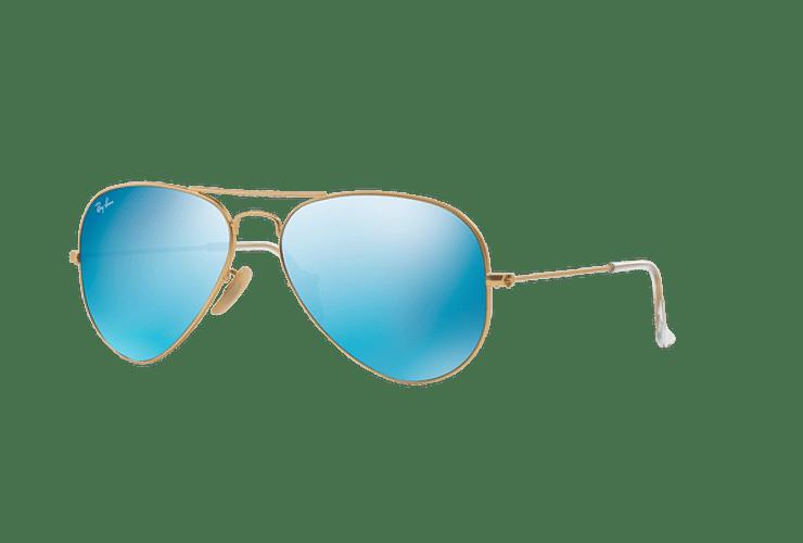 Ray Ban Aviador Matte Gold lente Blue Flash cod. RB3025 112/17 55 - Image 1