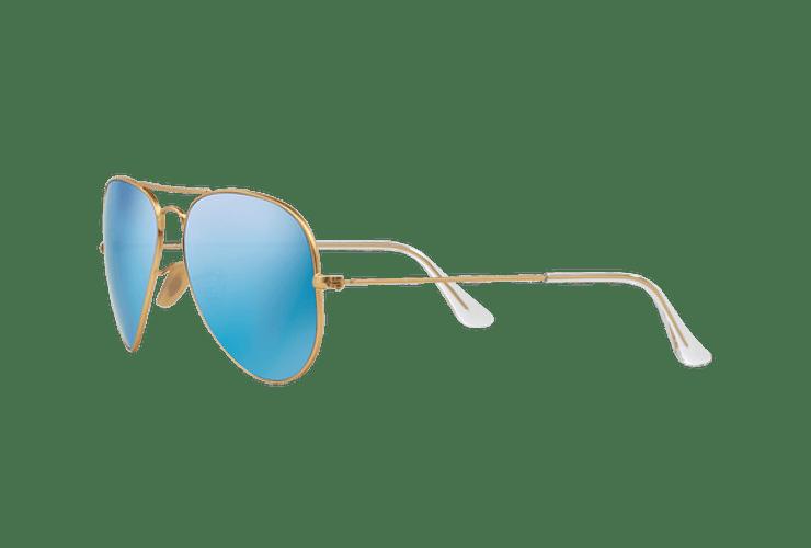 Ray Ban Aviador Matte Gold lente Blue Flash cod. RB3025 112/17 55 - Image 2
