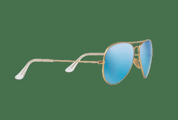 Ray Ban Aviador Matte Gold lente Blue Flash cod. RB3025 112/17 62 - Image 10