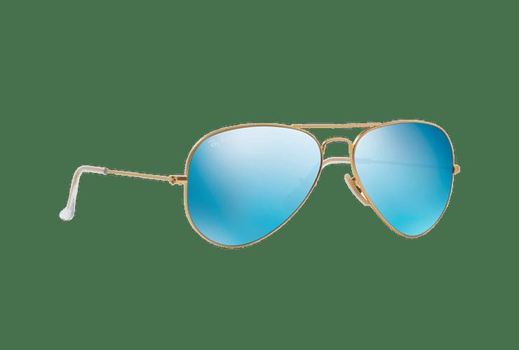 Ray Ban Aviador Matte Gold lente Blue Flash cod. RB3025 112/17 62 - Image 11