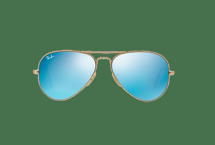 Ray Ban Aviador Matte Gold lente Blue Flash cod. RB3025 112/17 62 - Image 12