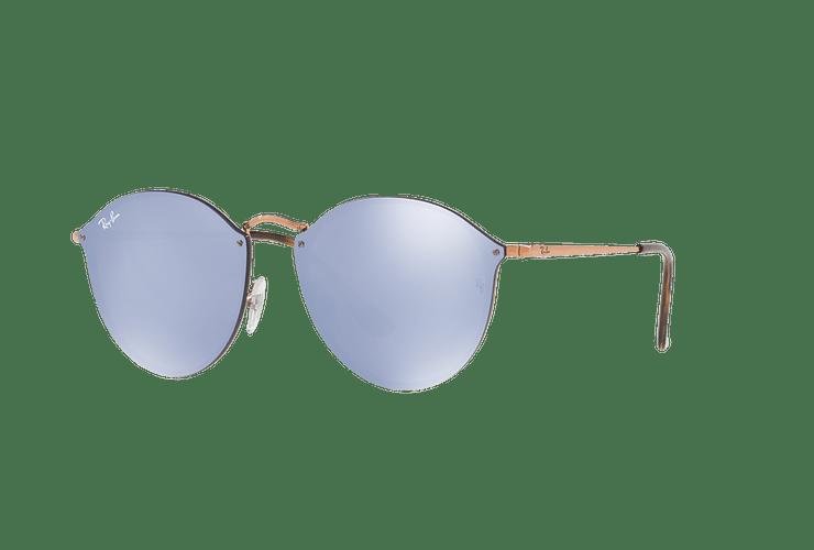 Ray Ban Blaze Round Copper lente Blue / Silver Mirror cod. RB3574N 90351U 59 - Image 1