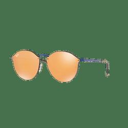 Ray Ban Blaze Round Blue lente Dark Orange Mirror Gold cod. RB3574N 90387J 59