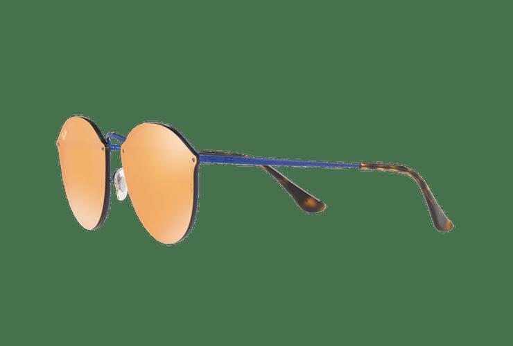 Ray Ban Blaze Round Blue lente Dark Orange Mirror Gold cod. RB3574N 90387J 59 - Image 2