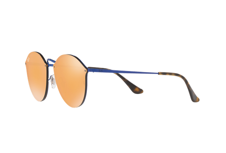 Ray Ban Blaze Round Blue lente Dark Orange Mirror Gold cod. RB3574N 90387J 59 - Image 2