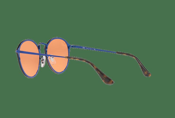 Ray Ban Blaze Round Blue lente Dark Orange Mirror Gold cod. RB3574N 90387J 59 - Image 4