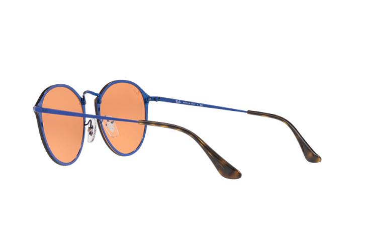 Ray Ban Blaze Round Blue lente Dark Orange Mirror Gold cod. RB3574N 90387J 59 - Image 4
