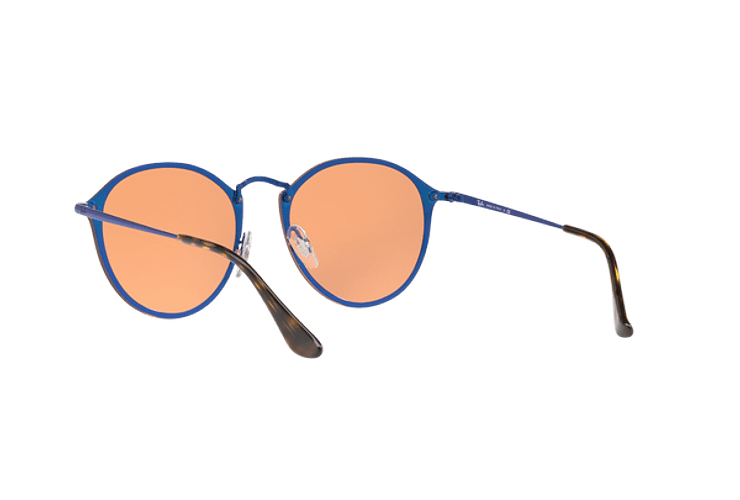 Ray Ban Blaze Round Blue lente Dark Orange Mirror Gold cod. RB3574N 90387J 59 - Image 5