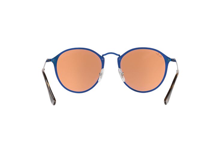 Ray Ban Blaze Round Blue lente Dark Orange Mirror Gold cod. RB3574N 90387J 59 - Image 6