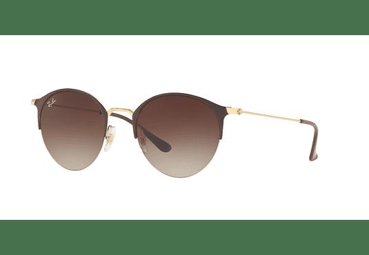 Ray Ban Round RB3578 Gold Top Brown lente Dark Brown Gradient cod. RB3578 900913 50