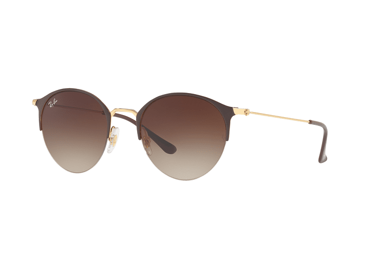 Ray Ban Round RB3578 Gold Top Brown lente Dark Brown Gradient cod. RB3578 900913 50 - Image 1