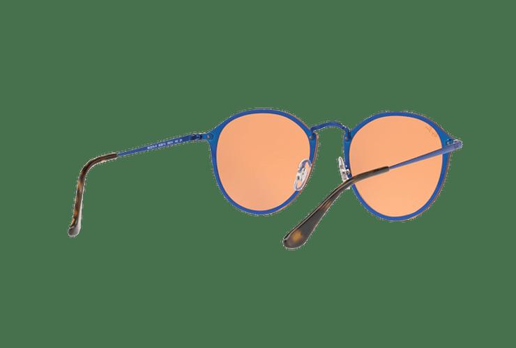 Ray Ban Blaze Round Blue lente Dark Orange Mirror Gold cod. RB3574N 90387J 59 - Image 7