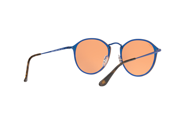 Ray Ban Blaze Round Blue lente Dark Orange Mirror Gold cod. RB3574N 90387J 59 - Image 7