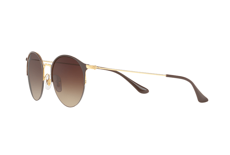 Ray-Ban Round RB3578 Gold Top Brown lente Dark Brown Gradient cod. RB3578 900913 50 - Image 2