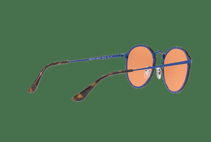 Ray Ban Blaze Round Blue lente Dark Orange Mirror Gold cod. RB3574N 90387J 59 - Image 8