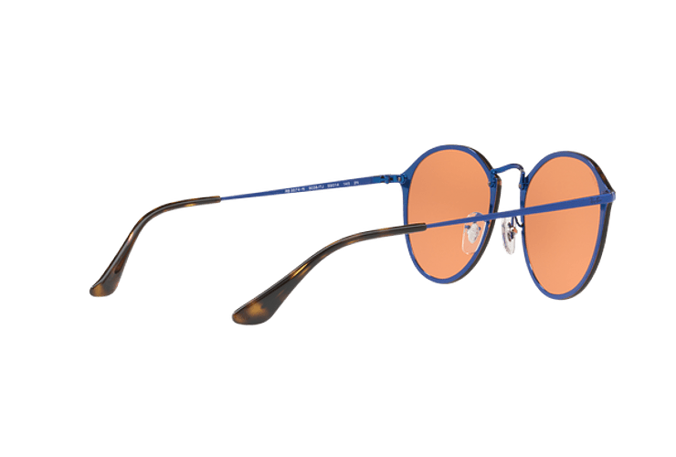 Ray Ban Blaze Round Blue lente Dark Orange Mirror Gold cod. RB3574N 90387J 59 - Image 8