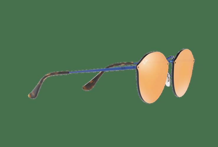 Ray Ban Blaze Round Blue lente Dark Orange Mirror Gold cod. RB3574N 90387J 59 - Image 10