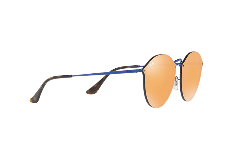 Ray Ban Blaze Round Blue lente Dark Orange Mirror Gold cod. RB3574N 90387J 59 - Image 10