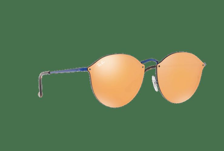 Ray Ban Blaze Round Blue lente Dark Orange Mirror Gold cod. RB3574N 90387J 59 - Image 11