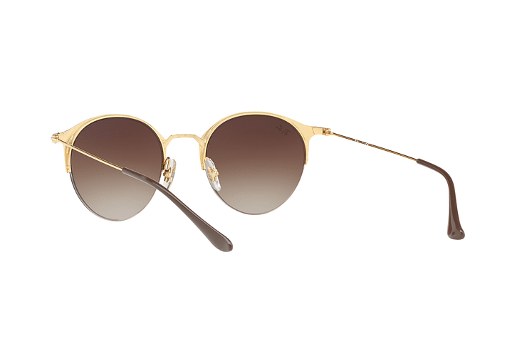 Ray Ban Round RB3578 Gold Top Brown lente Dark Brown Gradient cod. RB3578 900913 50 - Image 5