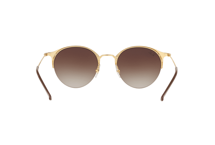 Ray Ban Round RB3578 Gold Top Brown lente Dark Brown Gradient cod. RB3578 900913 50 - Image 6