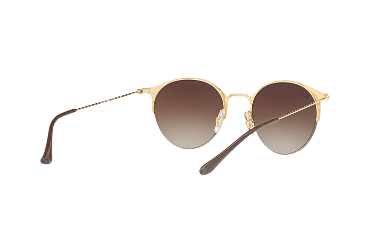 Ray Ban Round RB3578 Gold Top Brown lente Dark Brown Gradient cod. RB3578 900913 50 - Image 7