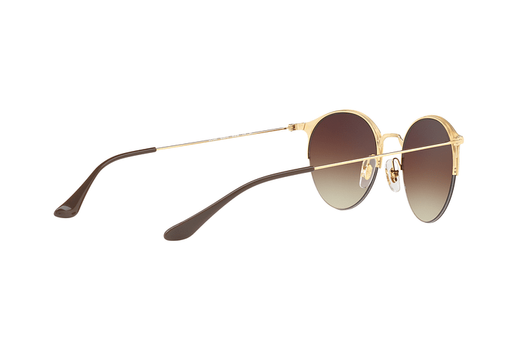 Ray Ban Round RB3578 Gold Top Brown lente Dark Brown Gradient cod. RB3578 900913 50 - Image 8
