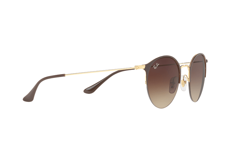 Ray Ban Round RB3578 Gold Top Brown lente Dark Brown Gradient cod. RB3578 900913 50 - Image 10