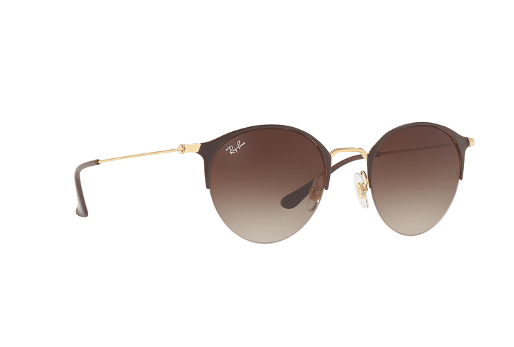 Ray Ban Round RB3578 Gold Top Brown lente Dark Brown Gradient cod. RB3578 900913 50 - Image 11
