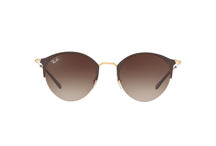 Ray Ban Round RB3578 Gold Top Brown lente Dark Brown Gradient cod. RB3578 900913 50 - Image 12