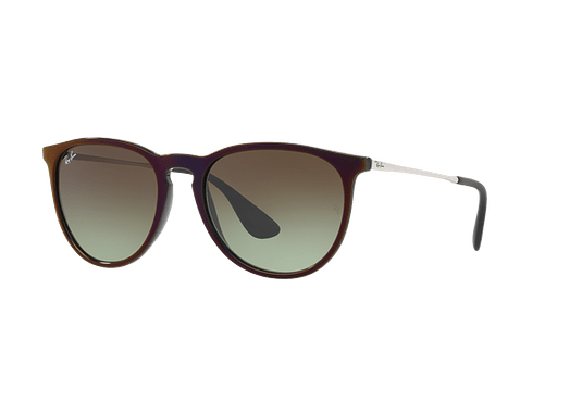 Ray Ban Erika Black / Red lente Green Gradient Brown cod. RB4171 6316E8 54