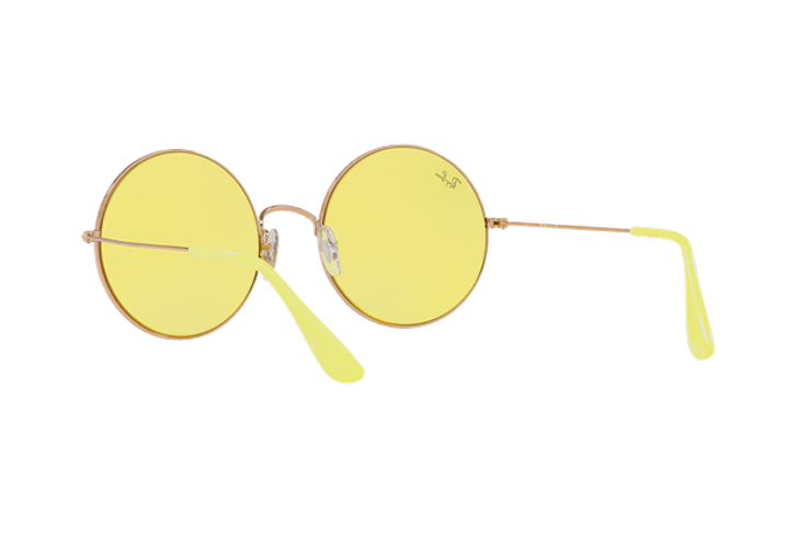 Ray Ban Ja-jo Round Shiny Copper lente Yellow Classic cod. RB3592 9035C9 55 - Image 5