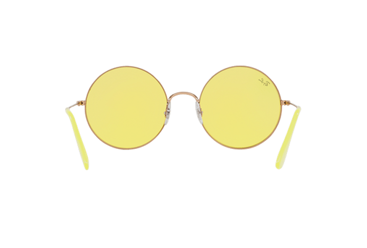 Ray Ban Ja-jo Round Shiny Copper lente Yellow Classic cod. RB3592 9035C9 55 - Image 6