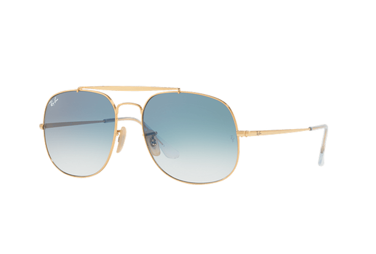Ray Ban General Gold lente Blue Gradient cod. RB3561 001/3F 57 - Image 1